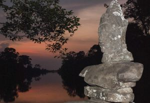 sunset at angkor wat - siem reap, cambodia