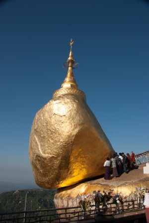the golden rock, myanmar, 2010