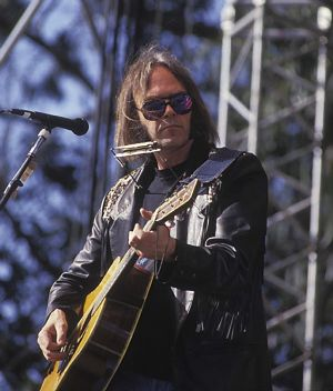 neil young at bill graham celebration 1991