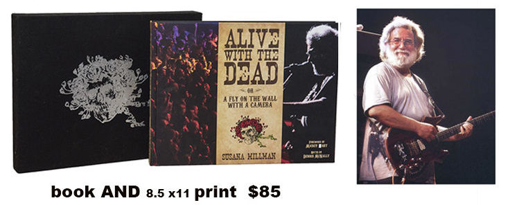 Alive with the Dead book with slipcase + Jerry Garcia photo
