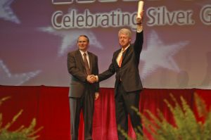 Bill Clinton and IHRSA President Joe Moore